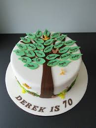 Cake Designs For Mens 70th Birthday 70th Birthday Cake Friendship Tree 70th Birthday Cake 80