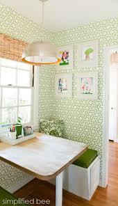 Elegant Breakfast Nook With Green U0026 White Trellis Wallpaper // Design By Cristin  Priest · Kitchen IdeasKitchen ...
