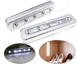 Details About 2x Led Touch Operated Battery Stick Wall Lamp Under Cabinet Cupboard Night Light