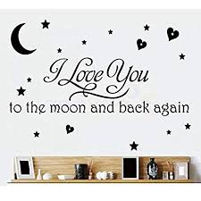 Love Quotes Wall Art Enchanting LOVE Quotes Wall Decor Wall Art I LOVE YOU To The Moon And Back