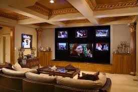 Office:Gorgeous And Well Decorated Home Office In The Basement Design  Exclusive Design Contemporary Basement