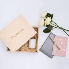 bridesmaid engraved wooden gift box