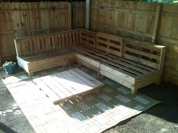 DIY Pallet Outdoor Sofa  DIY And CraftsPallet Furniture For Outdoors