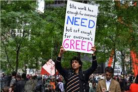 why we occupywallstreet the declaration of the occupation of new  photo by joann jovinelly ""
