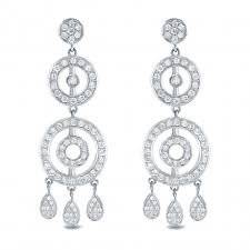 14k white gold 1 1 2ct tw diamond chandelier earrings h i si1
