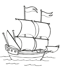 Great Mayflower Coloring Page 37 On Coloring Pages For Adults With