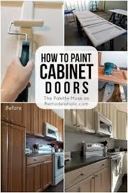 Repainting Cabinet Doors Remodelaholic How To Paint Cabinet Doors