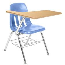 school desk and chair. 9000 series tablet arm school desk with book rack \u0026 laminate top and chair