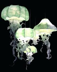 led lamp as a diffused soft light jellyfish fixture new orleans jellyfish pendant light cool hanging fixtures decorating within fixture decorations glass