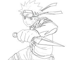 Chibi Naruto Coloring Pages With Cool Fire Robe Coloring Page