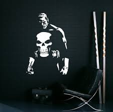 Marvel Comic Bedroom Aliexpresscom Buy Punisher Vinyl Wall Decal Words Hero Marvel