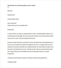 Generic Letter Of Recommendation Sample Teacher Reference Example