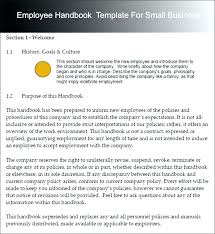 Small Business Employee Handbook Template Employees Best Templates ...