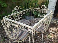 wrought iron garden furniture antique. mid century patio set woodardsalterini era 40u0027s50u0027s vintage furnituresalterinipatio setstable and chairswrought ironlyoncast wrought iron garden furniture antique f