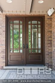 Wooden Door With Beveled Glass And Prairie Grills Custom Wood - Custom wood exterior doors