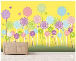 Aangepaste Kinderen Behang Pastel Bloemen Kwekerij Voor Kinderkamer