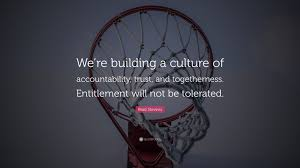 Brad Stevens Quote Were Building A Culture Of Accountability
