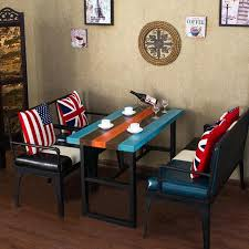 dining room sofa set. sofa set with chairs and dining table for living room furniture hotel restaurant american retro creative