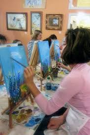 spouses club paints and invites new members