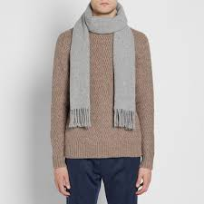 Acne Studios Canada Light Grey Melange Acne Studios Canada Narrow Scarf