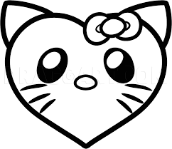We provide hello kitty coloring sheets you can print at home! How To Draw A Hello Kitty Heart Coloring Page Trace Drawing