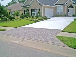 Front Yard Driveway Front Yard With Grasses And Apron Driveway Front Yard  Driveway Home Improvement Front