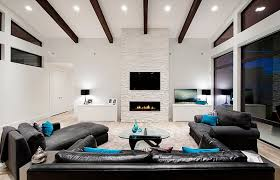 modern living room with fireplace and tv. View In Gallery Make The TV And Fireplace Focal Point Of Room Modern Living With Tv E