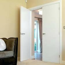 interior french doors j b kind white primed flush door pair with frosted glass insert