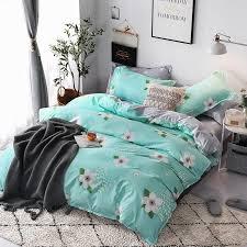 green white flower bedding sets single size twin full queen king green leaf pineapple bed cover gray heart flat sheet pillowcase navy blue duvet cover full