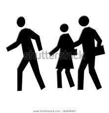 People Walking Icons Stock Illustration 184699463