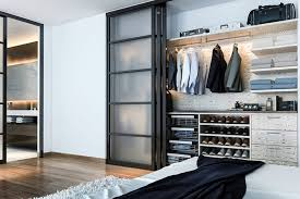 office in a closet design. Man\u0027s Modern Reach-In Closet Office In A Design