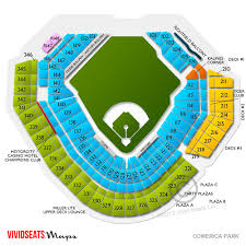 Comerica Field Seating Chart 16 Abundant Interactive Seating Chart For Comerica Park
