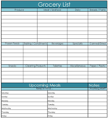 Grocery Shopping Template Making Your Life Easier Printable Grocery Shopping Template 4