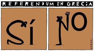 Resultado de imagen de referendum grecia