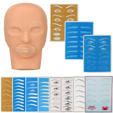 get ations gotd practice model head and practice skin for permanent tattoo makeup eyebrow set