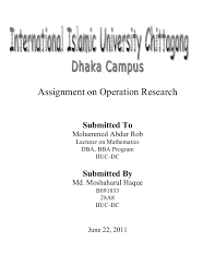Front Page Of Assignment