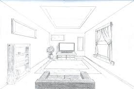 Living Room Perspective Drawing Room In Perspective Single Point  Perspective Room By A Rob 1 Point .
