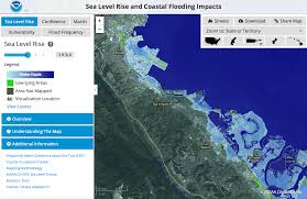 sea level rise  map viewer  noaa climategov