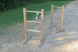 picture of ladder ball from reclaimed wood