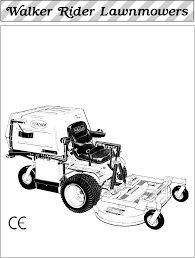 walker mdd 20 9 hp lawn mower owner s manual