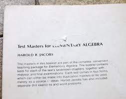 test masters for elementary algebra harold r jacobs test masters for elementary algebra harold r jacobs 9780716710776 com books