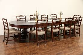 sold empire gany 1910 antique 54 round dining table 7 leaves