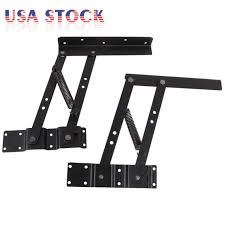 2pcs lift up top coffee table lifting frame mechanism spring hinge hardware usa