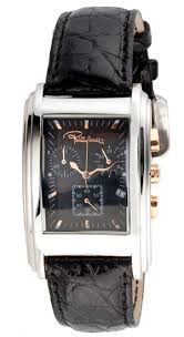 roberto cavalli men s watches 169 99 for robert cavalli men s rc eson watch black leather band black rose gold dial r7251955035 460 list price