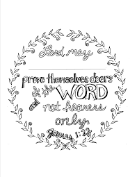 James 1 22 Scripture Coloring Page