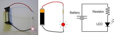 led traffic glove build a safety device to direct traffic drawing of basic circuit led battery and resistor