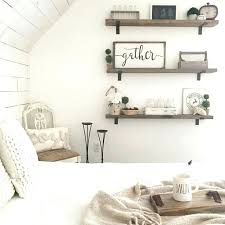 Exceptional Floating Shelves Ideas For Bedroom Farmhouse Bedroom Inspiration With Wood  Open Shelves How To Display Decor . Floating Shelves Ideas For Bedroom ...