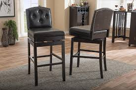 tufted swivel bar stools. Interesting Bar Ginaro Dark Brown Faux Leather Buttontufted Swivel Bar Stool  Set Of 2  WL0073WI And Tufted Stools T