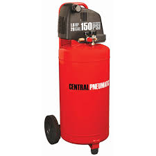 central pneumatic air compressor 26 gallon oil 1 8 hp 150 psi vertical air compressor central pneumatic