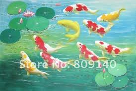feng shui paintings for office. Koi Painting Fish Oil Canvas Feng Shui Fancy Carp High Quality Hand Painted Home Office Hotel Wall Art Decor Free Ship Paintings For